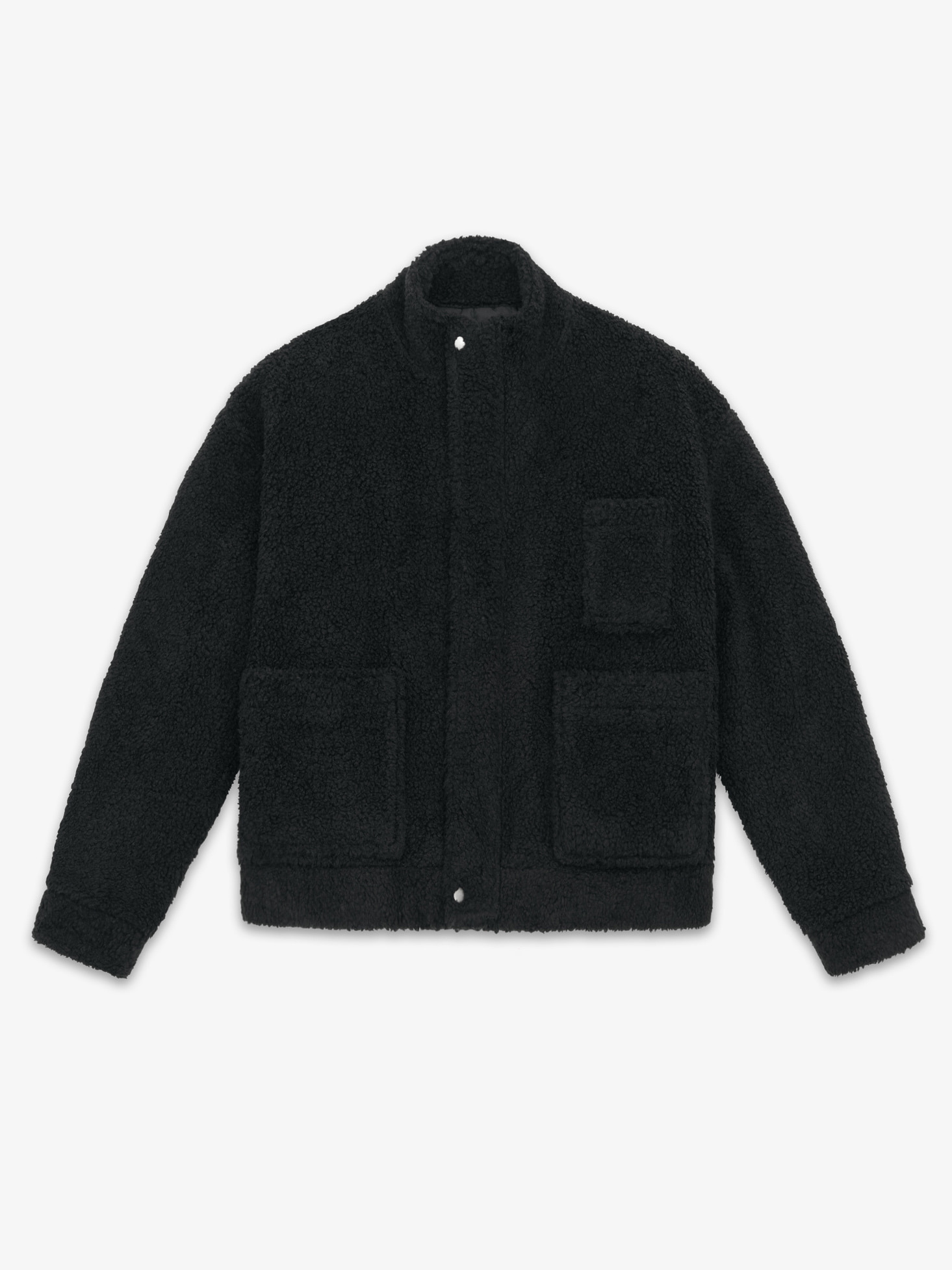LAMBS WOOL MOBILE JACKET(BLACK)