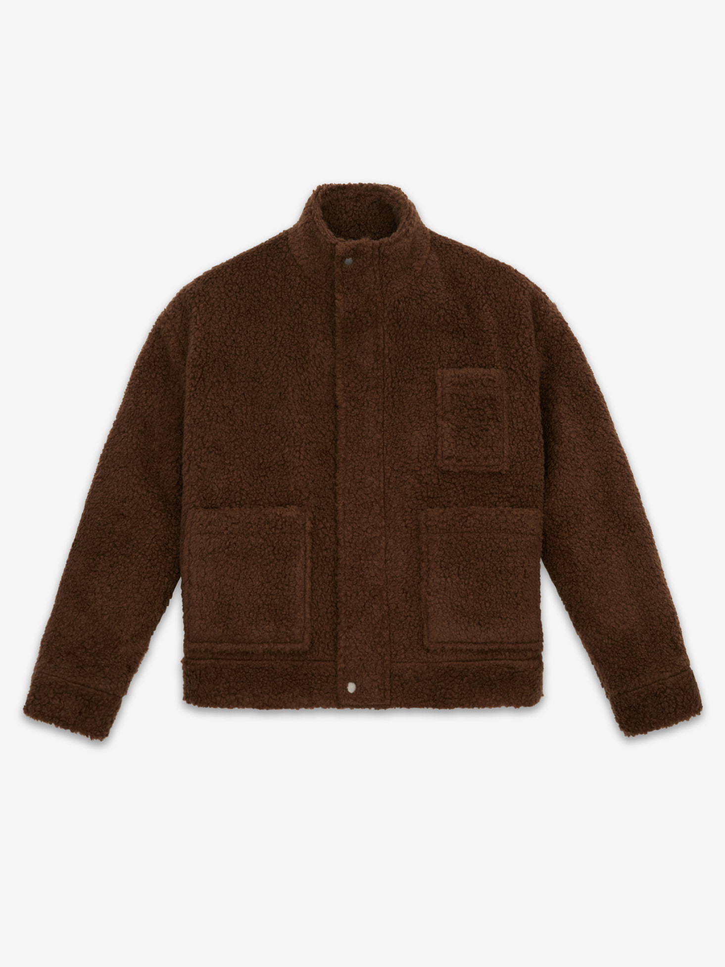 LAMBS WOOL MOBILE JACKET(BROWN)