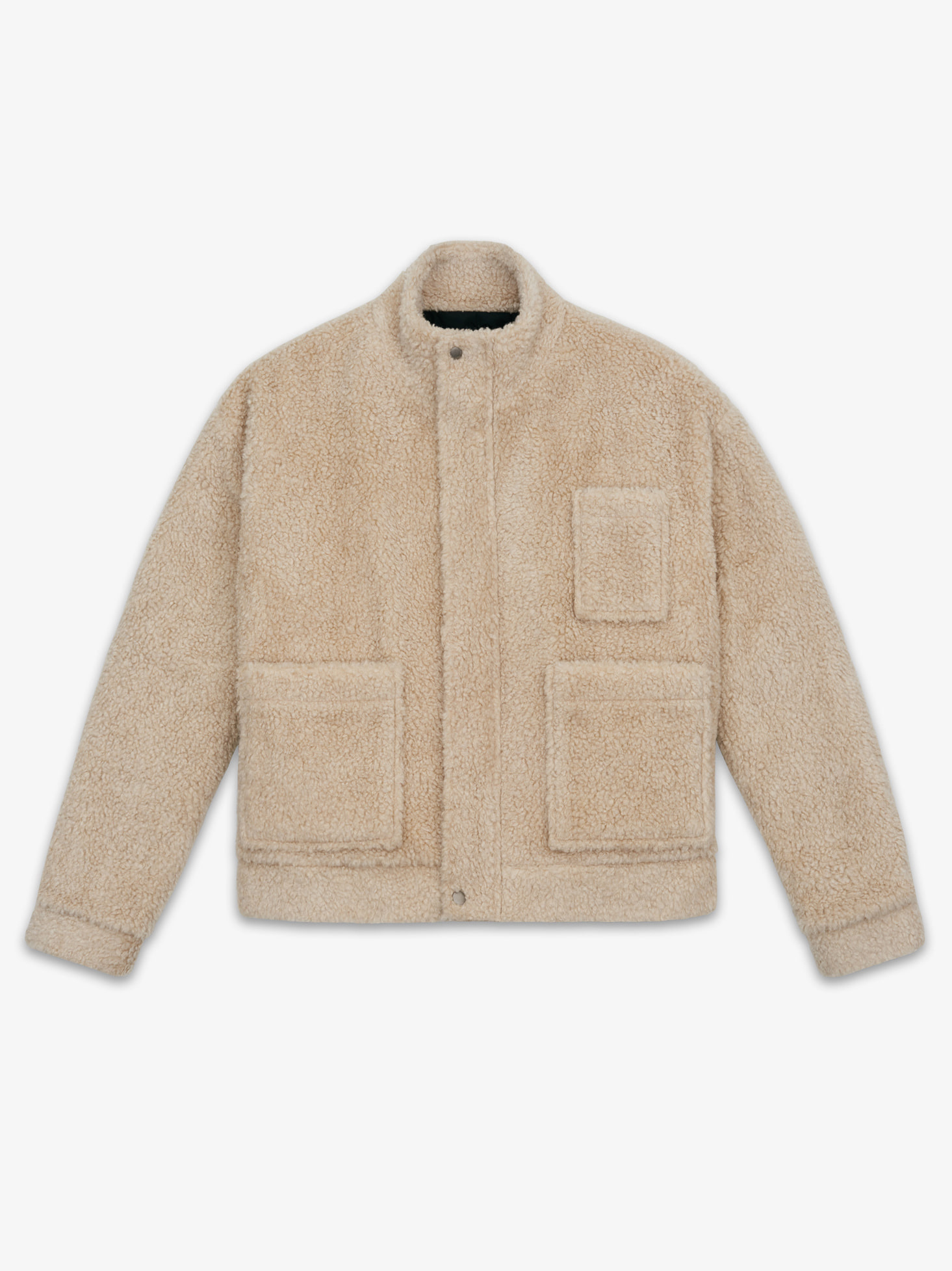 LAMBS WOOL MOBILE JACKET(BEIGE)