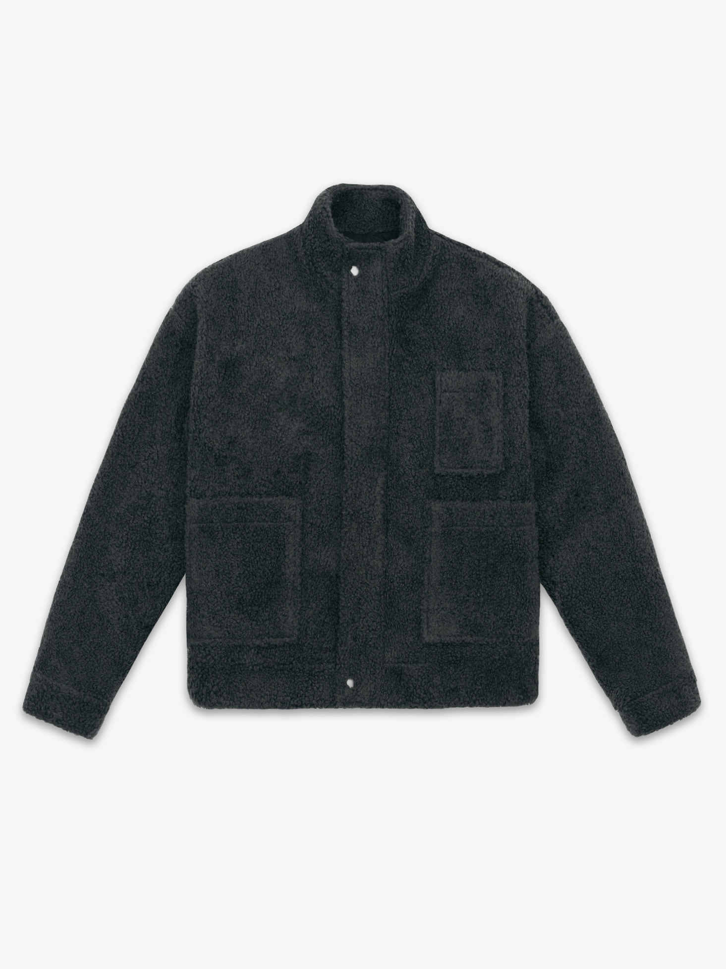 LAMBS WOOL MOBILE JACKET(DAKR GREY)